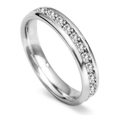 4mm Round Diamond 60% Wedding Ring DHWGH54R200 Image