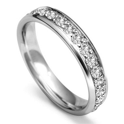 4mm Round Diamond Full Set Wedding Ring DHWG114R200 Image