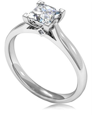 Princess Diamond Engagement Ring DHMTSS933 Image