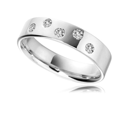 5mm Round Diamond Wedding Ring DHB043 Image