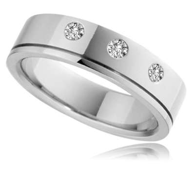 5mm Round Diamond Wedding Ring DHB045 Image