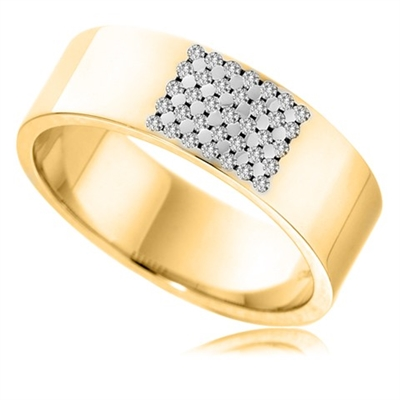 7mm Round Diamond Wedding Ring DHB135 Image