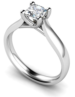 Unique Crossover Princess Diamond Engagement Ring DHMTSS568P Image