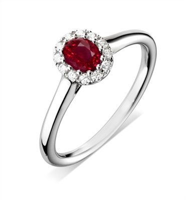 Oval Ruby & Diamond Ring DHDOMDSC48 Image