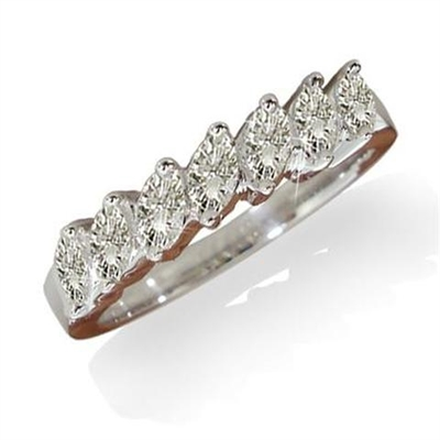 7 Stone Marquise Diamond Half Eternity Ring ER353 Image