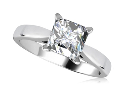 Modern Princess Diamond Engagement Ring DHRZ0083 Image