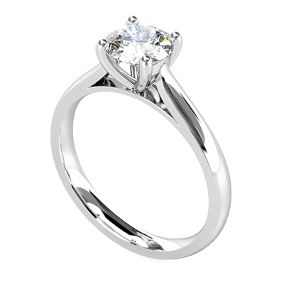Traditional Round Diamond Solitaire Ring DHDOMR12016 Image