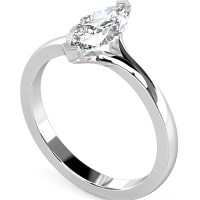Marquise Diamond Engagement Ring DHDOMR1172 Image