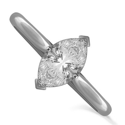 Marquise Diamond Engagement Ring DHDOMR11114 Image