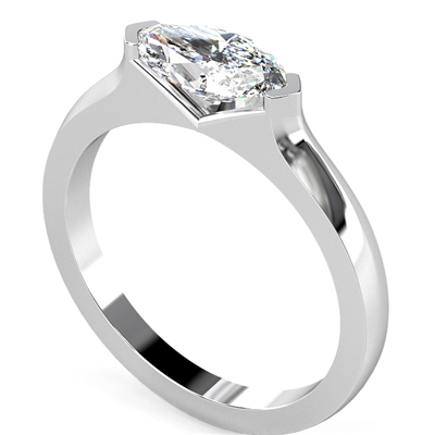 Marquise Diamond Engagement Ring DHDOMR1251 Image