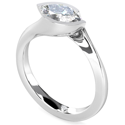 Marquise Diamond Engagement Ring DHDOMR1120 Image