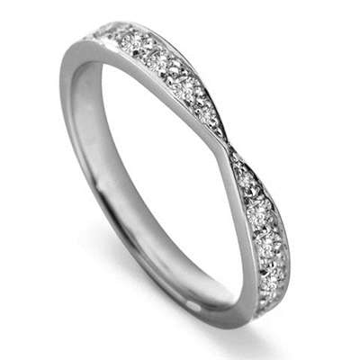 2.5mm Round Diamond Shaped Wedding Ring DHWS2825 Image