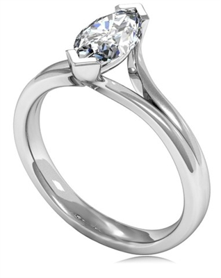 Marquise Diamond Engagement Ring DHMTSS945 Image