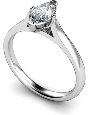 Marquise Diamond Engagement Ring DHMTSS618 Image