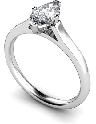 Marquise Diamond Engagement Ring DHMTSS659 Image