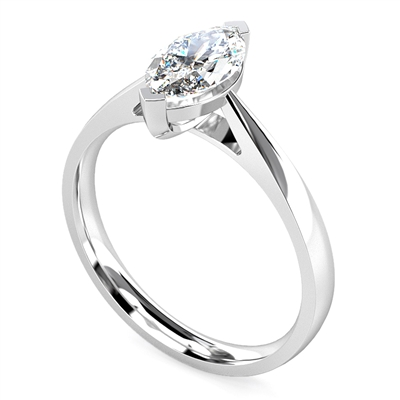 Marquise Diamond Engagement Ring DHMTSS706 Image