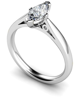 Marquise Diamond Engagement Ring DHMTSS834 Image