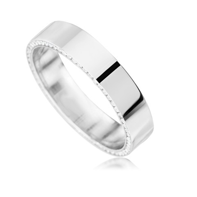 5mm Round Diamond Wedding Ring DHD080 Image
