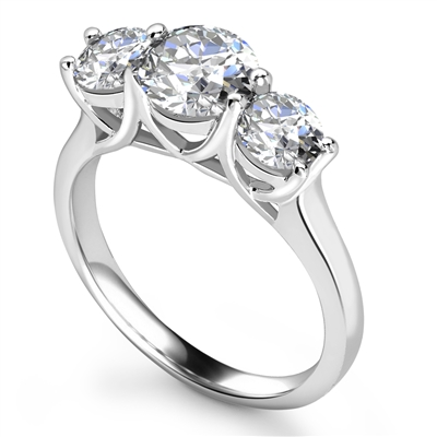 Crossover Round Diamond Trilogy Ring DHRX3112 Image