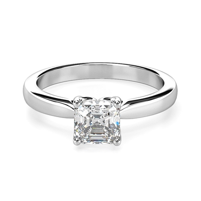 Asscher Diamond Engagement Ring DHDOMCX28AS9AS Image