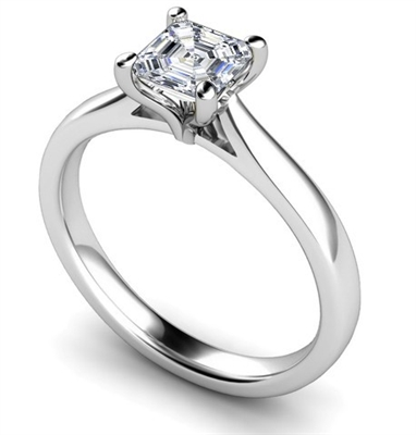 Asscher Diamond Engagement Ring DHMTSS564AS Image