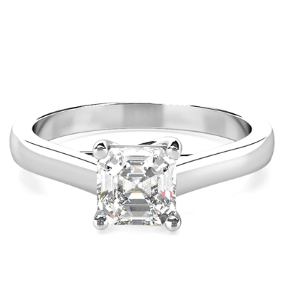 Asscher Diamond Engagement Ring DHDOMR1136AS Image