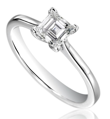 Asscher Diamond Engagement Ring DHDOMR1142AS Image
