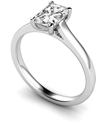 Traditional Radiant Diamond Engagement Ring DHMTSS655RA Image