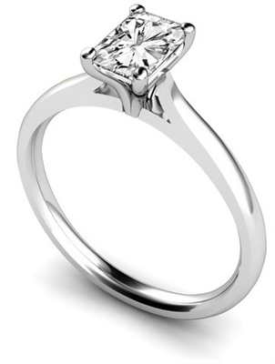 Elegant Radiant Diamond Engagement Ring DHMTSS670RA Image