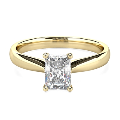 Elegant Radiant Diamond Engagement Ring DHMTSS681RA Image