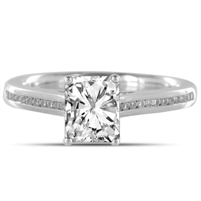 Radiant Diamond Shoulder Set Ring DHDOMDSE7RAD Image