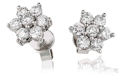 Classic Round Diamond Cluster Earrings DHLMJXYE1153 Image