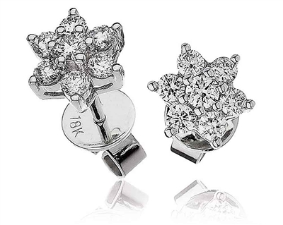 Classic Round Diamond Cluster Earrings DHLMJXYE1157 Image