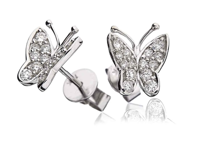 Modern Designer Butterfly Round Diamond Earrings DHLMJBJE0015 Image