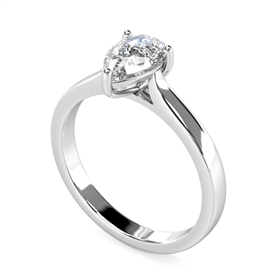 Classic Pear Diamond Engagement Ring DHMTSS712 Image