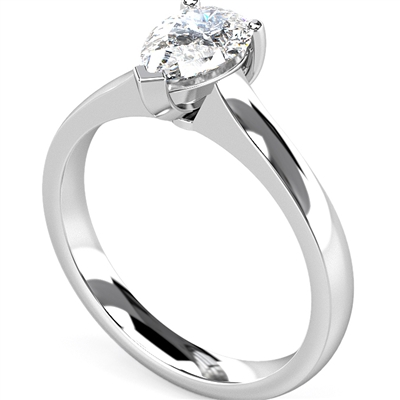 Traditional  Pear Diamond Engagement Ring DHMTSS614 Image