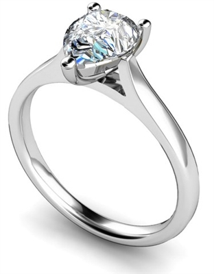 Classic Pear Diamond Engagement Ring DHMTSS601 Image