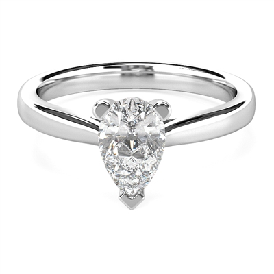 Classic Pear Diamond Engagement Ring DHMTSS711 Image