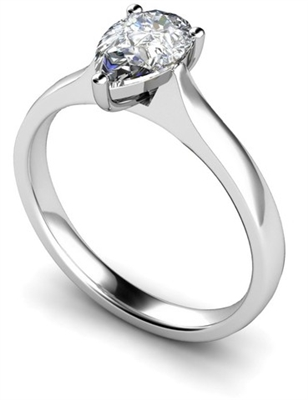 Traditional Pear Diamond Engagement Ring DHMTSS640 Image