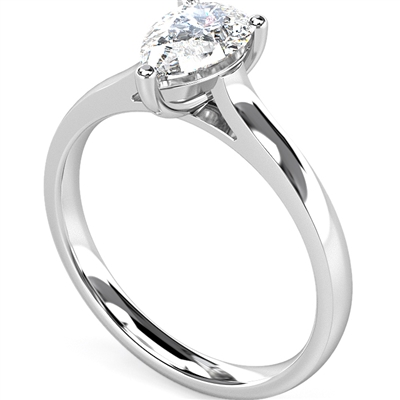 Modern Pear Diamond Engagement Ring DHMTSS658 Image