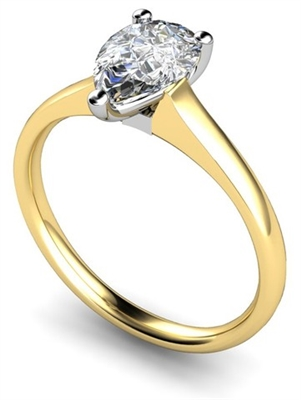 Traditional Pear Diamond Engagement Ring DHMTSS729 Image
