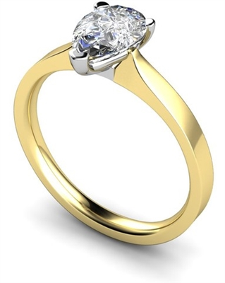 Classic Pear Diamond Engagement Ring DHMTSS731 Image