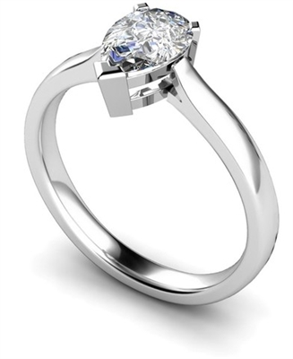 Traditional Pear Diamond Engagement Ring DHMTSS462 Image