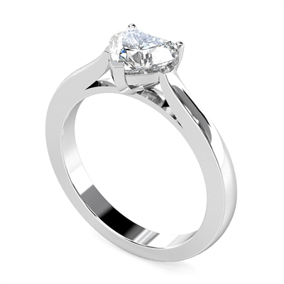 Modern Heart Diamond Engagement Ring DHMTSS628 Image