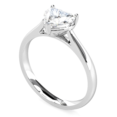 Classic Heart Diamond Engagement Ring DHMTSS710 Image