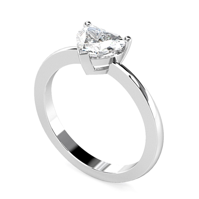 Traditional Heart Diamond Engagement Ring ER458 Image