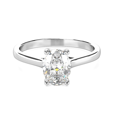 Oval Diamond Engagement Ring DHDOMR1157 Image