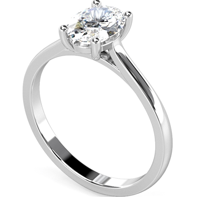 Traditional Oval Diamond Engagement Ring DHMTSS602 Image