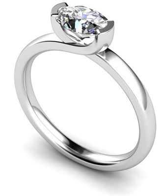 Unique Twist Oval Diamond Engagement Ring DHMTSS551 Image