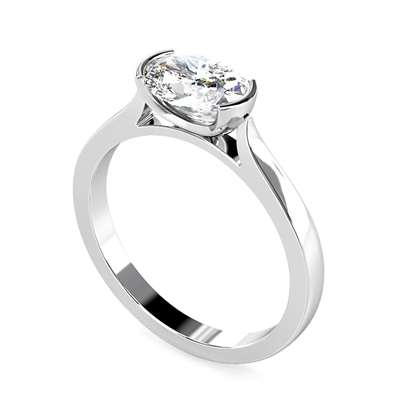 Unique Oval Diamond Engagement Ring DHMTSS929 Image